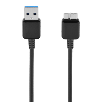 USB 3.0 Micro-Charge Data Cable - Black