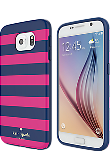 Flexible Hardshell Case for Samsung Galaxy S 6 - Candy Stripe
