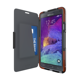 Samsung Galaxy Note 4 Tech21 Classic Shell Wallet Case - Black