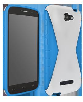 Alcatel OneTouch Fierce 2 Iceberg Protective Cover - White & Blue