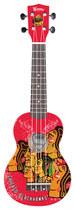 Woodrow - Denny Chicago Blackhawks 4-string Soprano Ukulele - Green/black/white/orange